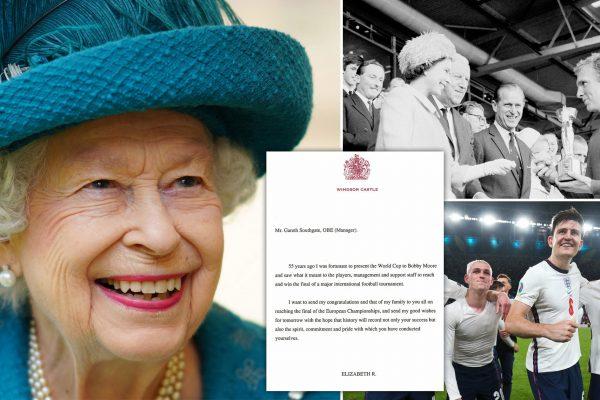 Queen Elizabeth blesses the England team